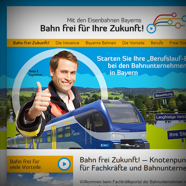 Bahn frei Zukunft - Webseite