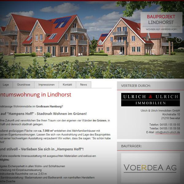 Bauprojekt Lindhorst - responsive Webseite
