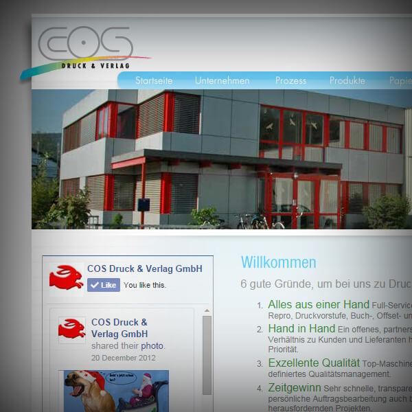 COS Druck & Verlag GmbH - Webseite