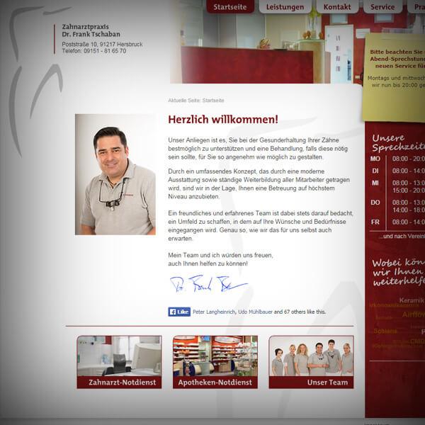 Praxis Dr. Tschaban - Webseite