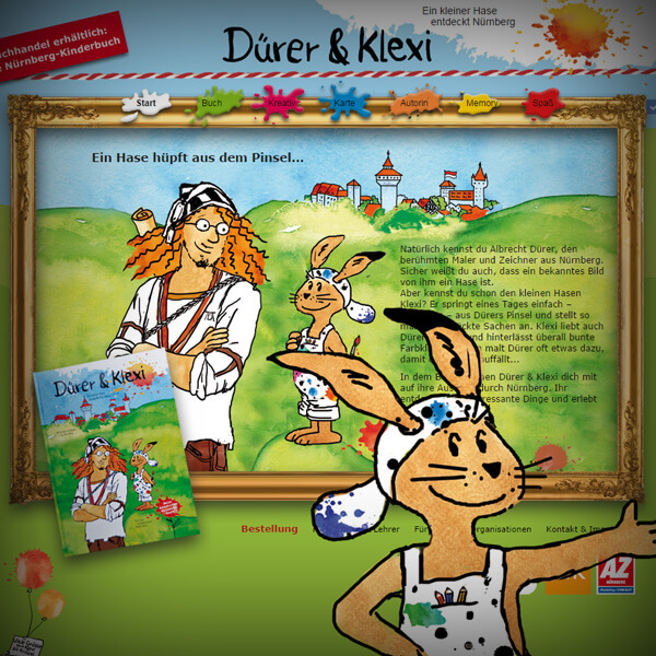 Dürer & Klexi - Webseite