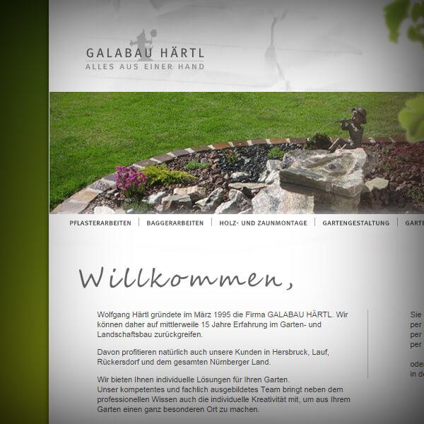 Galabau Härtl - Webseite