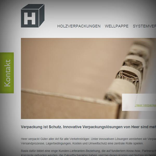 Heer Verpackungen GmbH - responsive Webseite