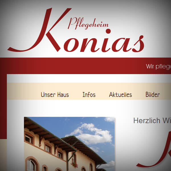 Pflegeheim Konias - Webseite