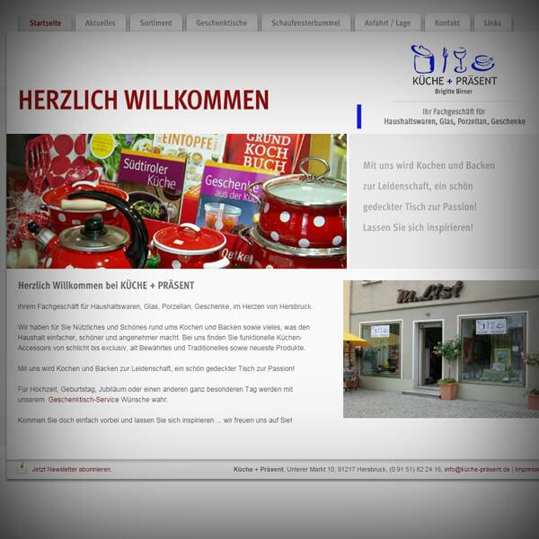 Küche+Präsent - Webseite