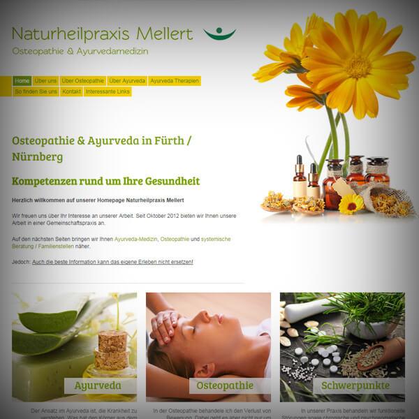 Naturheilpraxis Mellert - Webseite
