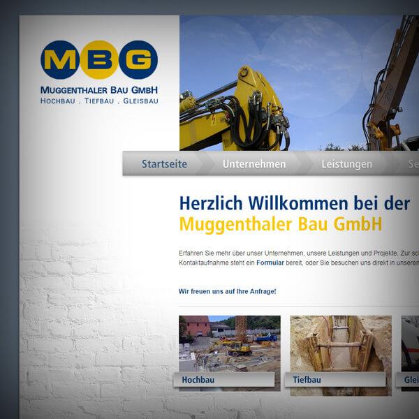 Muggenthaler Bau GmbH - Webseite