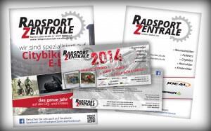 Radsport Zentrale Plakate und Flyer 2014