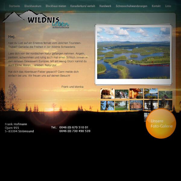 Wildnis leben - Webseite